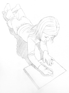 Julie14-2 Short Girl Dead Mom journal entry. Interesting things about keeping this journal
